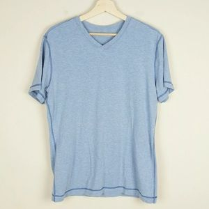 Lululemon Basic V Neck Short Sleeve Blue Shirt M